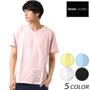 SALE セール メンズ 半袖 Tシャツ DEAR LAUREL ディアローレル D18S2104 FF1 C9|murasaki