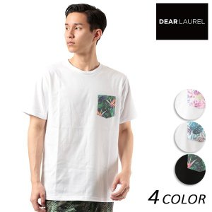 SALE セール メンズ 半袖 Tシャツ DEAR LAUREL ディアローレル D18S2106 FF2 E9|murasaki