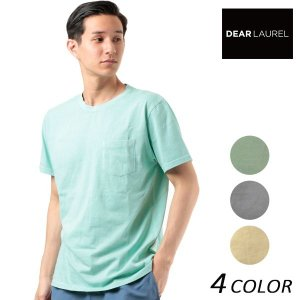 SALE セール メンズ 半袖 Tシャツ DEAR LAUREL ディアローレル D18S2111 FF2 E11|murasaki