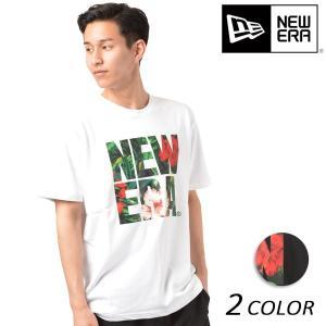 SALE セール メンズ 半袖 Tシャツ NEW ERA ニューエラ SS COTTON TEE GRN BOTANICAL BIGNE FF1 D13|murasaki
