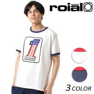 メンズ 半袖 Tシャツ roial ロイアル TS619 FF1 C8 MM|murasaki
