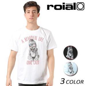 メンズ 半袖 Tシャツ roial ロイアル TS628 FF1 B14|murasaki