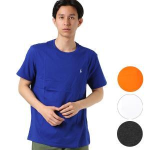 【POLO RALPHLAUREN】ポロ ラルフローレンのメンズ半袖Tシャツ。 シンプルな無地のデザ...