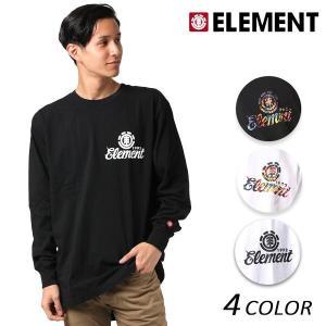 メンズ 長袖 Tシャツ ELEMENT エレメント AH022-059 EX3 I25 murasaki