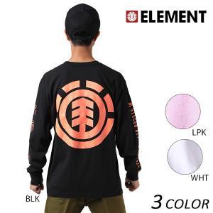 メンズ 長袖 Tシャツ ELEMENT エレメント AH022-P05 EX3 H11 murasaki