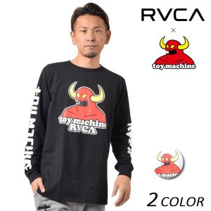 SALE セール メンズ 長袖 Tシャツ RVCA ル―カ × TOY MACHINE トイマシーン AI041-051 FF1 L15|murasaki