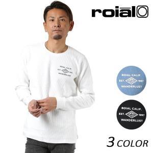 SALE セール メンズ 長袖 Tシャツ roial ロイアル DT125 FF1 L22|murasaki