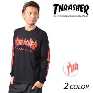 メンズ 長袖 Tシャツ THRASHER スラッシャー TH8368 FF1 L12|murasaki