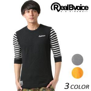 メンズ 七分袖 Tシャツ Real.B.Voice リアルビーボイス 10011-10001 FF1 C9|murasaki