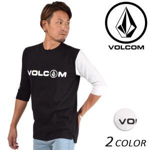 メンズ 五分袖 Tシャツ VOLCOM ボルコム Basic Half Sleeve Tee A39118JA FF1 A30 MM murasaki