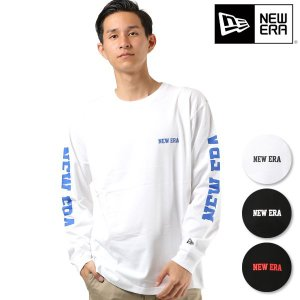 メンズ 長袖 Tシャツ NEW ERA ニューエラ 11783072-76 LS COTTON TEE NEW ERA SLEEVE FF3 I17|murasaki