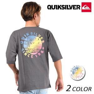 メンズ 五分袖 Tシャツ QUIKSILVER クイックシルバー QLT181632M FX1 B3 MM|murasaki