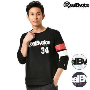 メンズ 七分袖 Tシャツ Real.B.Voice リアルビーボイス 10081-10315 GG1 B1|murasaki