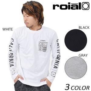 メンズ 長袖 Tシャツ roial ロイアル TS557 EE1 L3|murasaki
