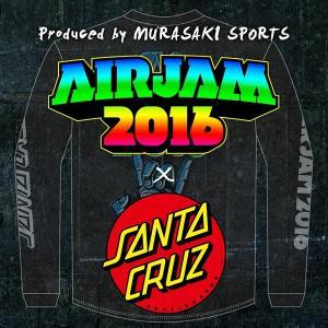 【限定販売】メンズ 長袖 Tシャツ AIR JAM エアジャム × SANTA CRUZ サンタクルーズ AIR JAM Collab B 50263410 限定商品 EE1 L16|murasaki