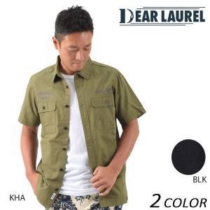 メンズ 半袖 シャツ DEAR LAUREL ディアローレル 14713101 EE1 D14|murasaki