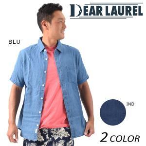 メンズ 半袖 シャツ DEAR LAUREL ディアローレル 14713103 EE1 D26|murasaki