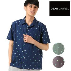 SALE セール メンズ 半袖 シャツ DEAR LAUREL ディアローレル D18S2402 FF2 E30|murasaki