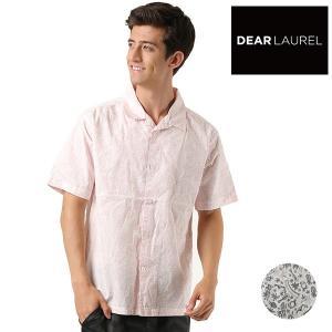 SALE セール メンズ 半袖 シャツ DEAR LAUREL ディアローレル D18S2403 FF2 F6|murasaki