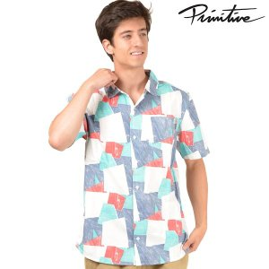 SALE セール メンズ 半袖 シャツ PRIMITIVE プリミティブ ISLAND VENEER S/S PR18MU04 FF2 G3|murasaki