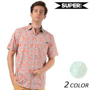 SALE セール メンズ 半袖 シャツ SUPERBRAND スーパーブランド WAMPUM S/S WOVEN FF1 D28|murasaki