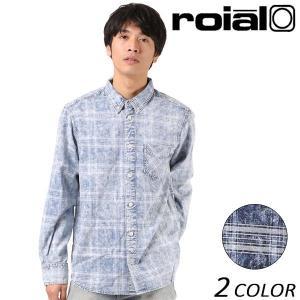 SALE セール メンズ 長袖 シャツ roial ロイアル MT274 EE3 J16|murasaki