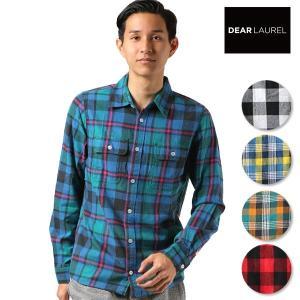 SALE セール メンズ 長袖 シャツ DEAR LAUREL ディアローレル D18F2601 FF3 I24|murasaki