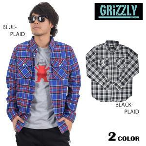 SALE セール 50%OFF メンズ長袖シャツ GRIZZLY グリズリー TUNDRA L/S BUTTON UP SHIRTS ツンドラボタンアップシャツ DD1 B12 murasaki