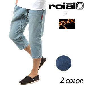 メンズ 七分丈 パンツ roial ロイアル × ROKX ロックス CO28 FF1 C24|murasaki