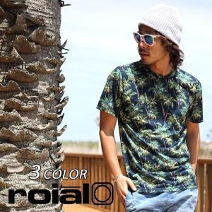 メンズ ハイブリッド 半袖 Tシャツ 水陸両用 roial ロイアル HCT06 ラッシュガード EE1 E17 murasaki
