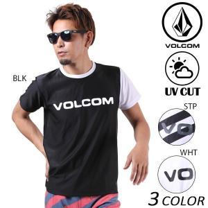 メンズ 半袖 ラッシュガード VOLCOM ボルコム Brand Logo Surf Tee N01117JB EE1 E17 murasaki