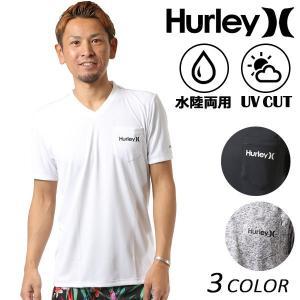 メンズ ハイブリッド 半袖 Tシャツ 水陸両用 Hurley ハーレー TEEMKSSLY84 ラッシュガード FF1 C28|murasaki