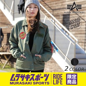 SALE セール レディース ジャケット ALPHA アルファ × SANTA CRUZ サンタクルーズ VINTAGE GREEN TA7046 ムラサキスポーツ限定 EE3 K20 murasaki