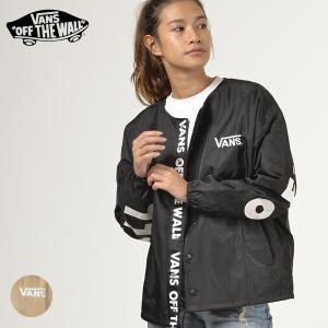レディース ジャケット VANS バンズ VA18FW-GJ06 アウター ノーカラー ロゴ ブルゾン FF3 J19|murasaki