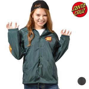 レディース ジャケット SANTA CRUZ サンタクルーズ FLAMING DOT 50283110 ムラサキスポーツ限定 コーチジャケット FF3 J15|murasaki