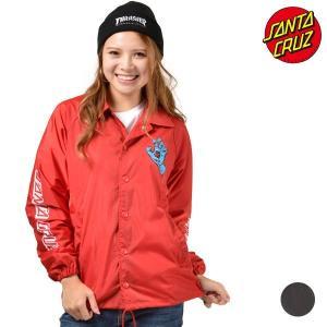 レディース ジャケット SANTA CRUZ サンタクルーズ SCREAMING HAND 50283111 ムラサキスポーツ限定 コーチジャケット FF3 J15|murasaki