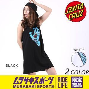 レディース ワンピース SANTA CRUZ サンタクルーズ SCREAMING HAND 50271414 ムラサキスポーツ限定 EE1 E18|murasaki