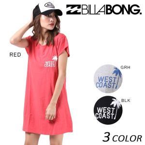レディース 半袖Tシャツ ワンピース BILLABONG ビラボン AH013-391 F1S G12 【返品不可】|murasaki