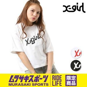 SALE セール レディース 半袖 トップス Tシャツ X-girl エックスガール MAKER LOGO SHORT SLEEVE TEE 05181136 ムラサキスポーツ限定 FF1 H11 murasaki