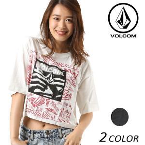 レディース 半袖 トップス Tシャツ VOLCOM ボルコム Super Stoned Tee B3521803 クロップド丈 春 夏 カジュアル FX2 E10 MM|murasaki