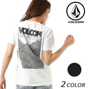 レディース 半袖 トップス Tシャツ VOLCOM ボルコム New Future Boxy Tee B35218JB バックプリント ロゴ FX2 E10 MM|murasaki