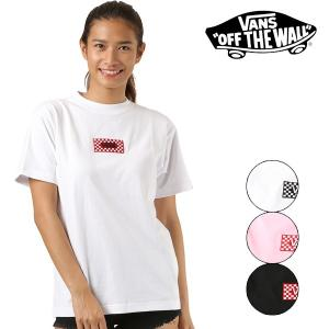 SALE セール レディース トップス 半袖 Tシャツ VANS バンズ CD18SS-MT12 カジュアル ロゴ ロゴT  FF2 F29 murasaki