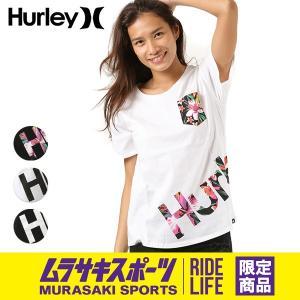 SALE セール レディース 半袖 Tシャツ トップス Hurley ハーレー GTSOAGDT8 胸ポケット ポケT FF2 C23|murasaki