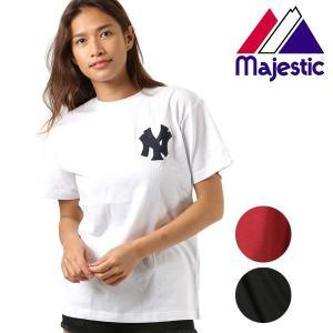 SALE セール レディース 半袖 Tシャツ トップス Majestic マジェスティック LL01-NYK-8S10 FX1 C22 murasaki
