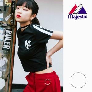 レディース 半袖 Tシャツ トップス Majestic マジェスティック LL01-NYK-8S11 FX1 C22 murasaki