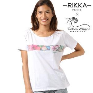 SALE セール レディース 半袖 Tシャツ RIKKA FEMME リッカファム × Colleen Wilcox コリーン ウィルコックス R18S2103 FF2 G25|murasaki