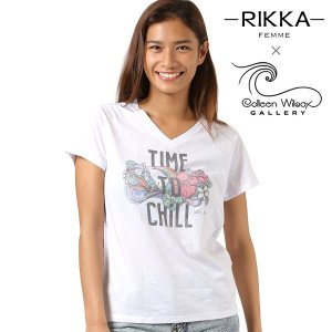 SALE セール レディース 半袖 Tシャツ RIKKA FEMME リッカファム × Colleen Wilcox コリーン ウィルコックス R18S2112 FF2 G25|murasaki