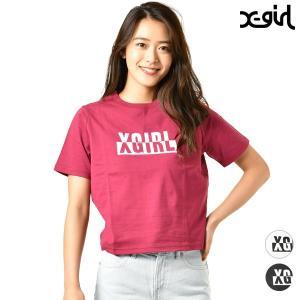 【X-girl】エックスガールのレディース半袖Tシャツ。 トレンドのクロップド丈Tシャツが、 ストリ...