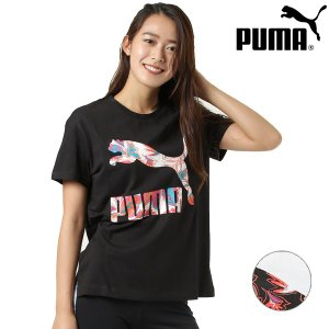 【PUMA】プーマのレディース半袖Tシャツ。 クローゼットに1枚は欲しい、定番のロゴTシャツです。 ...