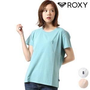【ROXY】ロキシーのレディース半袖Tシャツ。 すっきりとしたシルエットと肌触りの良い素材の、 快適...